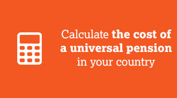 Calculate the cost of a universal pension in your country